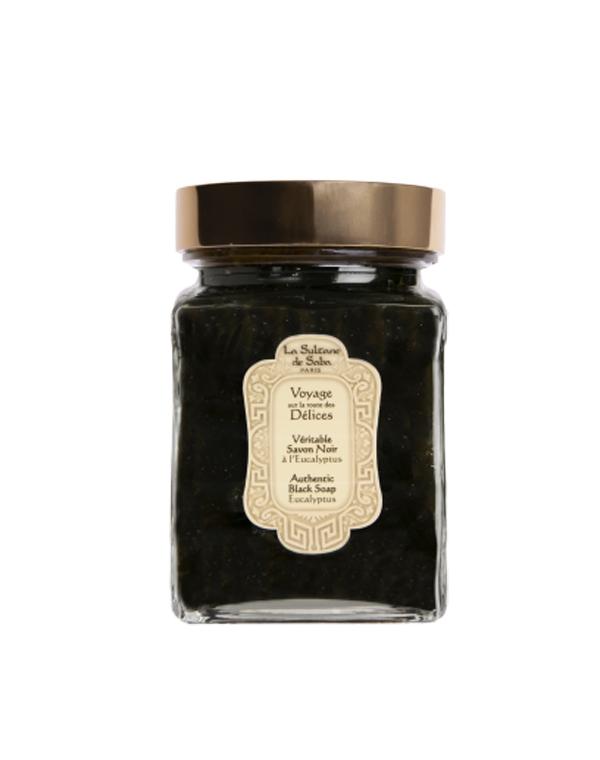 Купить Пилинг, скраб La Sultane De Saba, Черное мыло для лица и тела с эвкалиптом 300млLaSultaneDeSaba