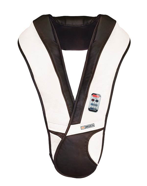 Массажер US Medica Rumba NFМассажер для плеч и шеи способствует снятию мышечного напряжения и накопившейся усталости, улучшает общее самочувствие и придает сил. Роликовый массажер подходит для проработки области плеч, шеи, кистей рук, поясницы и ног.<br><br>Бренды: US MEDICA<br>Вид товара: Массажер, аппарат<br>Область ухода: Спина<br>Назначение: Массаж тела