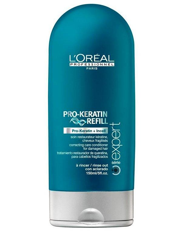 Восстанавливающий и укрепляющий смываемый уход с кератином Keratin Refill LorealСыворотки для восстановления волос<br>Вернуть поврежденным локонам красоту и здоровье поможет смываемый уход. Средство восполнит недостаток кератина и повысит защитные функции волос.<br><br>Бренды: Loreal Professional<br>Вид товара: Сыворотка, флюид<br>Область ухода: Волосы<br>Назначение: Восстановление и защита<br>Тип кожи, волос: Осветленные, мелированные, Окрашенные, Вьющиеся, Сухие, поврежденные, Нормальные, Тонкие<br>Косметическая линия: Линия Keratin Refil восстанавливающий уход с кератином