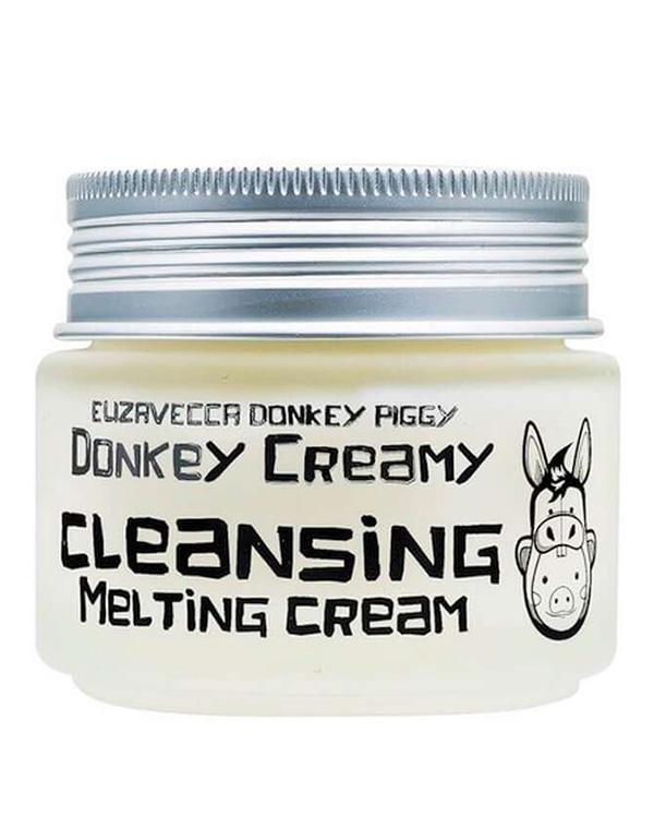 Крем для лица на основе ослиного молока Donkey Creamy Cleansing Melting Cream Elizavecca, 100 г тканевая маска с паровым кремом elizavecca silky creamy donkey steam cream mask pack