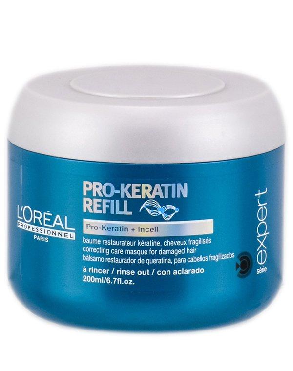 Восстанавливающая и укрепляющая маска с кератином Keratin Refill Loreal