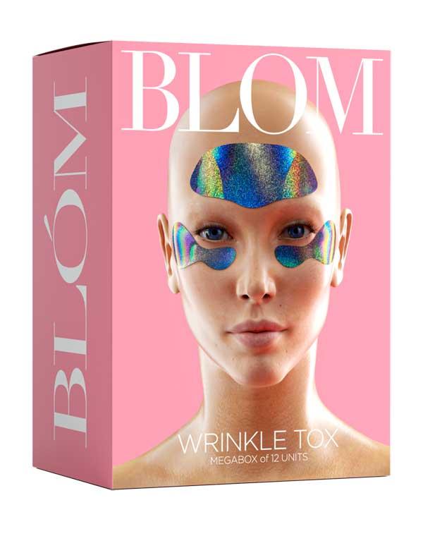Купить Патчи, нетканные маски BLOM, Набор микроигольныхпатчей WRINKLE TOX 6 патчей для лба + 6 пар патчей для кожи под глазами BLOM, РОССИЯ