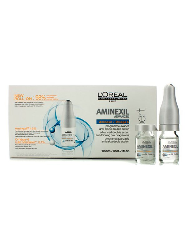 Сыворотка, флюид Loreal Professional Ампулы против выпадения волос Aminexil Advanced Treatment Loreal тиогамма ампулы в аптеке