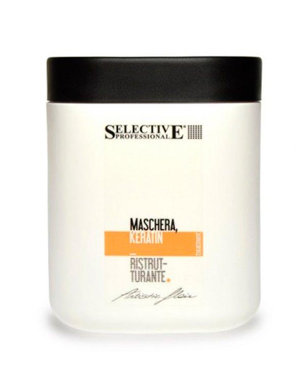 Маска кератиновая Maschera Keratin Ristrutturante, SelectiveМаски для лечения волос<br>Маска для восстановления сухих и поврежденных волос от Selective имеет в своем составе низкомолекулярные аминокислоты, которые внедряются в протеин волоса и реконструируют его изнутри. После применения маски остается кератиновый слой, укрепляющий волос. У...<br><br>Бренды: Selective<br>Вид товара: Маска для волос<br>Область ухода: Волосы<br>Назначение: Восстановление волос<br>Тип кожи, волос: Осветленные, мелированные, Окрашенные, Сухие, поврежденные<br>Косметическая линия: ARTISTIC FLAIR Линия для ухода и укладки