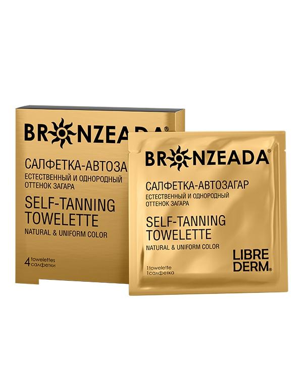 Салфетка-автозагар № 4 Bronzeada, LibredermКрема для восстановления кожи лица<br>Если вы хотите приобрести равномерный загар, исключив вредное влияние УФЛ, то салфетка от Либредерм отлично справится с данной задачей. После ее использования уже через 3 часа кожа будет загорелой!<br><br>Бренды: Librederm<br>Область ухода: Лицо, Тело<br>Назначение: Автозагар, Восстановление и защита<br>Возрастная группа: Более 40, До 30, До 40<br>Косметическая линия: Линия Bronzeada