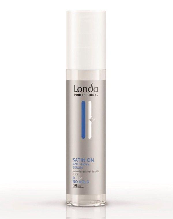 Сыворотка разглаживающая для волос (без фиксации) Shine satin on LondaСредства для укладки волос<br>Сыворотка мгновенно разгладит локоны, обеспечив им комплексный уход и защиту.<br><br>Бренды: Londa Professional<br>Вид товара: Сыворотка, флюид, Несмываемый уход, защита<br>Область ухода: Волосы<br>Назначение: Стайлинг<br>Тип кожи, волос: Осветленные, мелированные, Окрашенные, Вьющиеся, Сухие, поврежденные, Нормальные<br>Косметическая линия: Линия Styling Londa для укладки волос