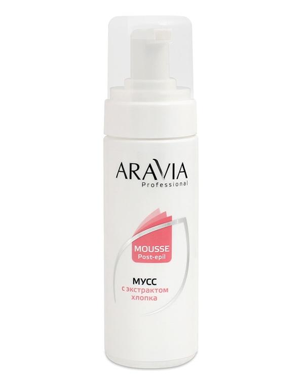 Косметика для депиляции AraviaСредства для смягчения кожи<br>Легкий мусс с экстрактом хлопка сделает кожу невероятно гладкой и шелковистой на ощупь. Средство быстро впитывается, не оставляет липких следов и жирного блеска.<br><br>Бренды: Aravia<br>Вид товара: Косметика для депиляции<br>Назначение: Успокаивающее<br>Косметическая линия: Линия ARAVIA Professional