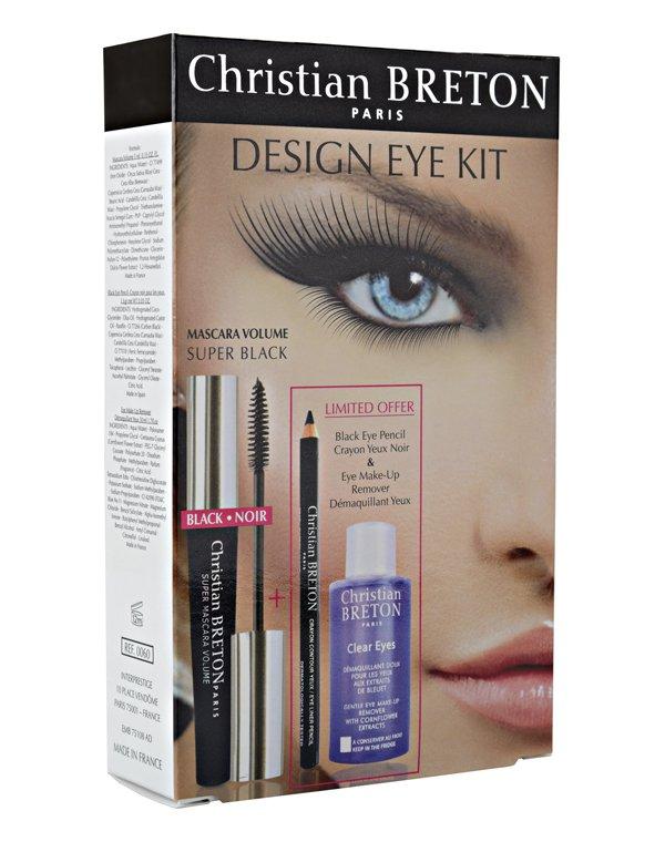 Набор для макияжа глаз + средство для демакияжа Christian Breton