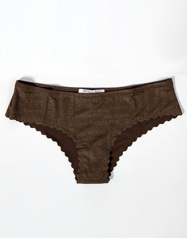 Patrizia Pepe трусики коричневые с волной к бикини SLIP BEACHWEAR