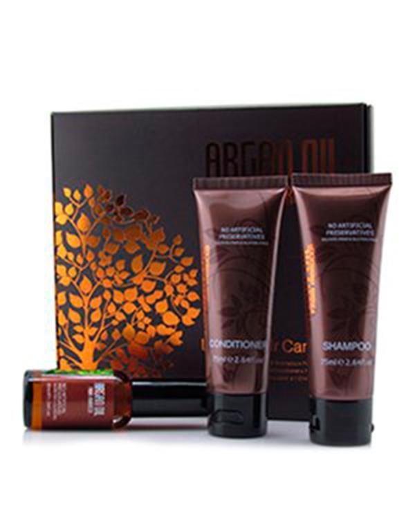 Набор шампунь 75 мл, кондиционер 75 мл, масло арганы 30 мл, Morocco Argan Oil кондиционер для волос morocco argan oil morocco argan oil mo046lwfcj19