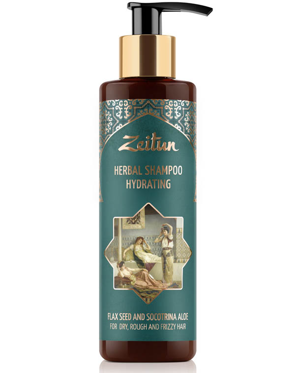 Купить Шампунь Zeitun, Фито-шампунь увлажняющий для сухих, жестких и кудрявых волос со льном и сокотрийским алоэ Zeitun