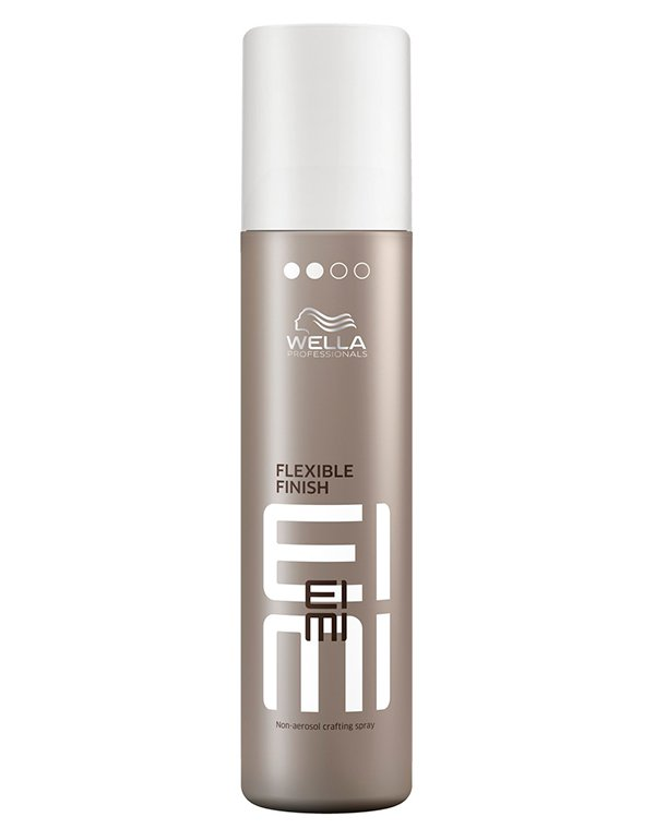 Спрей неаэрозольный моделирующий для волос Flexible Finish WellaСпрей для волос<br>Спрей дает свободу в создании самых креативных причесок, одновременно обеспечивая волосам уход.<br><br>Бренды: Wella Professional<br>Вид товара: Спрей, мусс<br>Область ухода: Волосы<br>Назначение: Стайлинг<br>Тип кожи, волос: Осветленные, мелированные, Окрашенные, Вьющиеся, Сухие, поврежденные, Нормальные, Тонкие<br>Косметическая линия: Линия Wella Eimi стайлинга