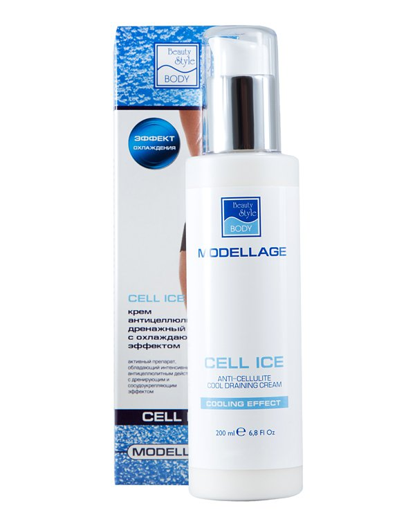 Антицеллюлитный крем Beauty Style «CELL ICE», 200 мл, Modellage от Созвездие Красоты