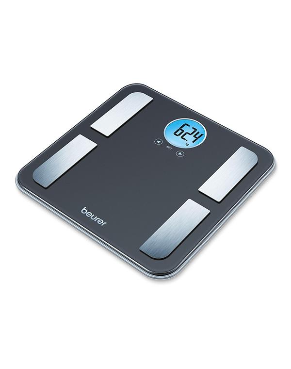 Весы напольные электронные BF 195, Beurer, черные весы напольные beurer bf600 style