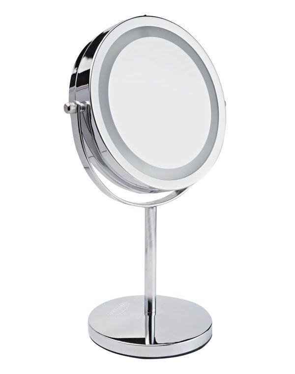 Зеркала GEZATONE Косметическое зеркало с подсветкой Gezatone lm194 зеркало gezatone жезатон зеркало планшет косметологическое 1 3х с подсветкой lm1417 красное