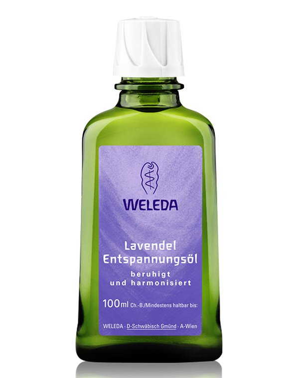 Лавандовое расслабляющее масло для тела, Weleda - Косметика для массажа