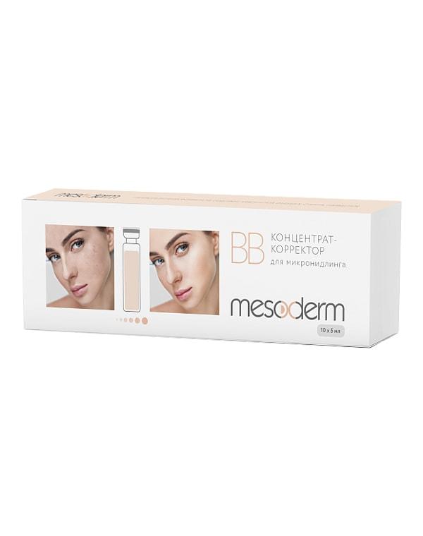 Концентрат-корректор для процедуры микронидлинга, Mesoderm, 5 мл*10 шт mesoderm крем mesoderm фото защитный spf 30 50 мл