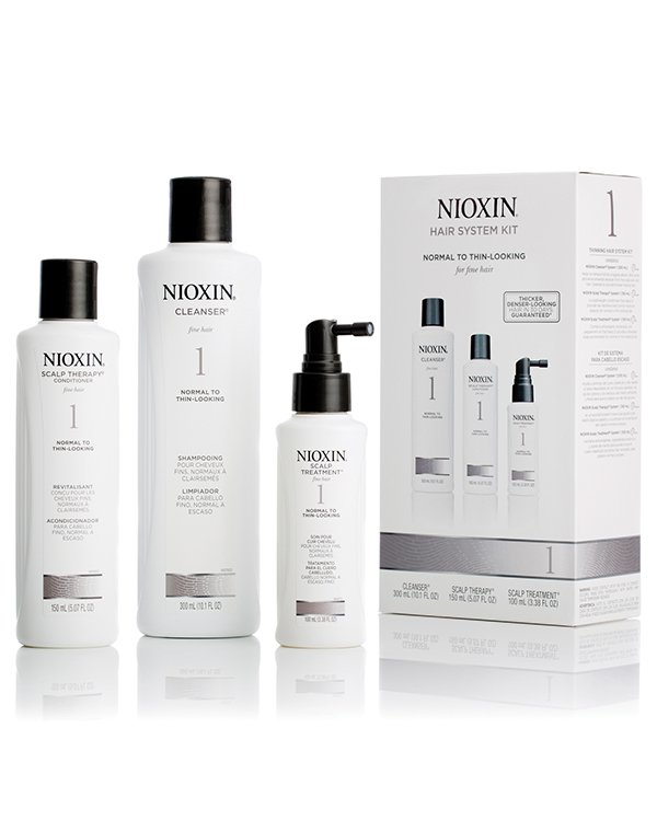 Шампунь NioxinШампуни для окрашеных волос<br>Набор предназначен для регулярного ухода за ослабленными тонкими волосами, склонными к выпадению.<br><br>Бренды: Nioxin<br>Вид товара: Шампунь, Кондиционер, бальзам, Маска для волос, Косметический набор<br>Область ухода: Волосы<br>Назначение: Увлажнение и питание, От выпадения волос, Стимуляция роста, Для объема<br>Тип кожи, волос: Нормальные, Тонкие<br>Косметическая линия: Линия Система 1 Для тонких натуральных волос нормальных с тенденцией к выпадению