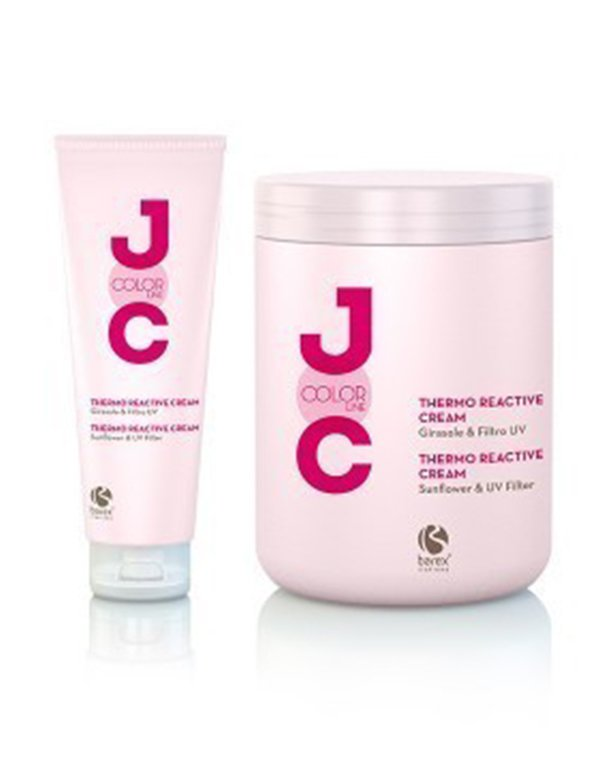 Крем термозащитныйКрем для волос<br>Специальный крем активизируется от тепла. Он предназначен для защиты окрашенных локонов, придавая им яркий блеск, мягкость и послушность. Крем усиливает глубину и устойчивость косметического оттенка.<br><br>Бренды: Barex<br>Вид товара: Несмываемый уход, защита<br>Область ухода: Волосы<br>Назначение: Защита цвета, Стайлинг, Термозащита, Защита от солнца<br>Тип кожи, волос: Окрашенные, Осветленные, мелированные<br>Косметическая линия: Joc color Line Линия для окрашенных волос