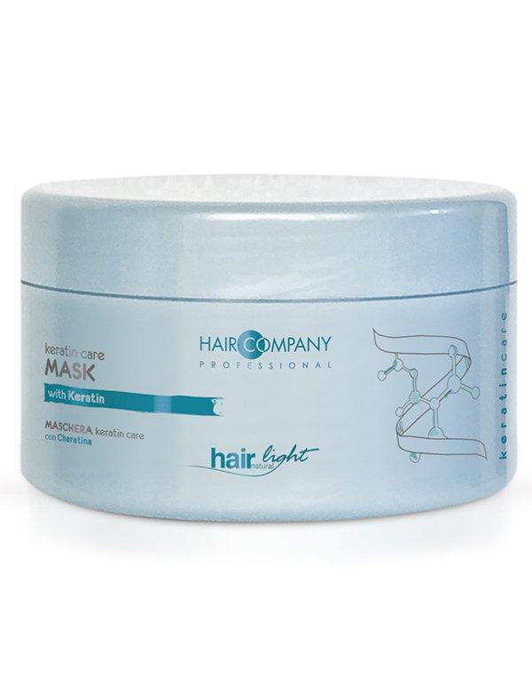 Маска-уход с кератином Keratin Care Hair CompanyВосстанавливает повреждения, делает волосы гладкими и послушными, облегчает расчёсывание.<br><br>Бренды: Hair Company Professional<br>Вид товара: Маска для волос<br>Область ухода: Волосы<br>Назначение: Восстановление волос, Восстановление и защита<br>Тип кожи, волос: Окрашенные, Сухие, поврежденные, Тонкие<br>Косметическая линия: Линия Hair Light Keratin Care для волос с кератином
