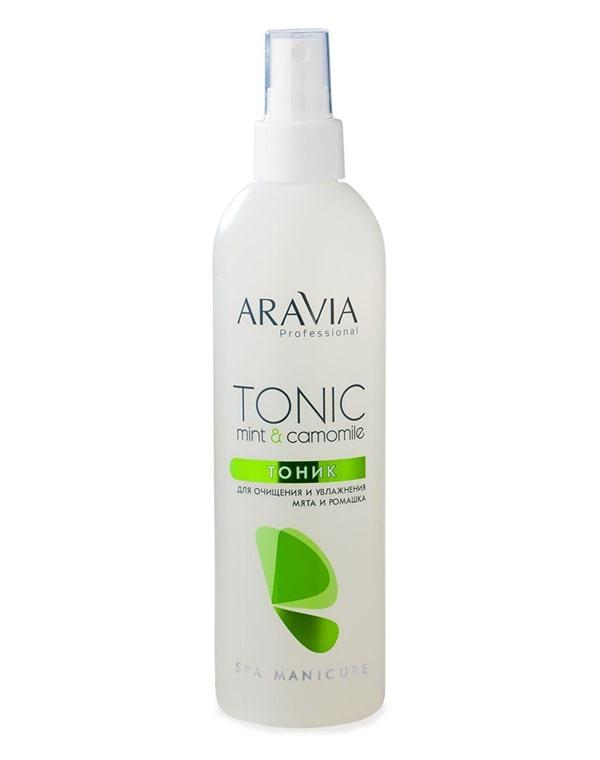 Тоник для очищения и увлажнения кожи с мятой и ромашкой, ARAVIA Professional, 300 мл aravia цены