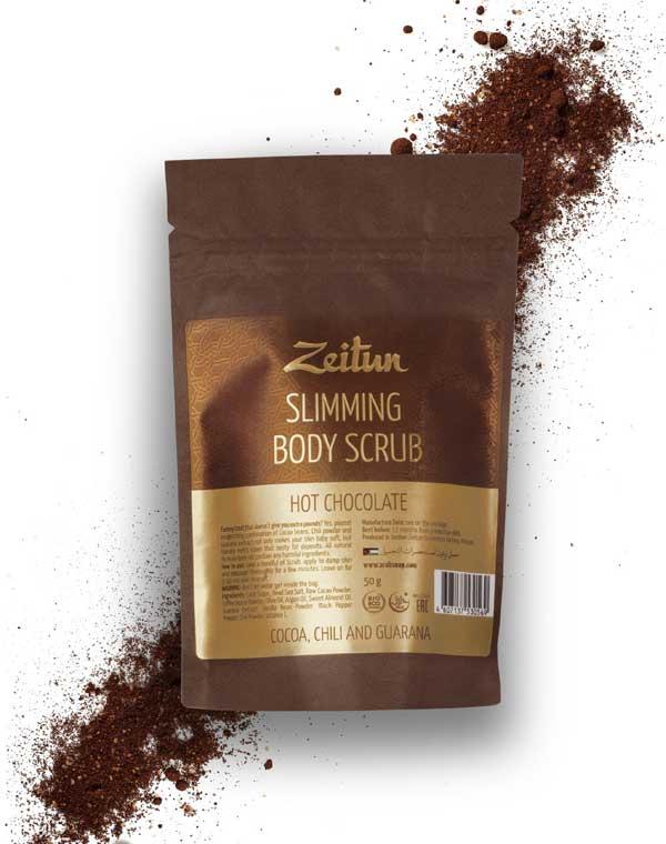 Скраб для тела Горячий шоколад моделирующий Zeitun lafesta горячий шоколад