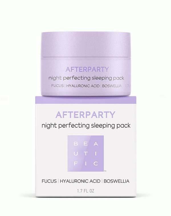 Маска для лица ночная восстанавливающая против усталост с гиалуроновой кислотой Afterparty Beautific
