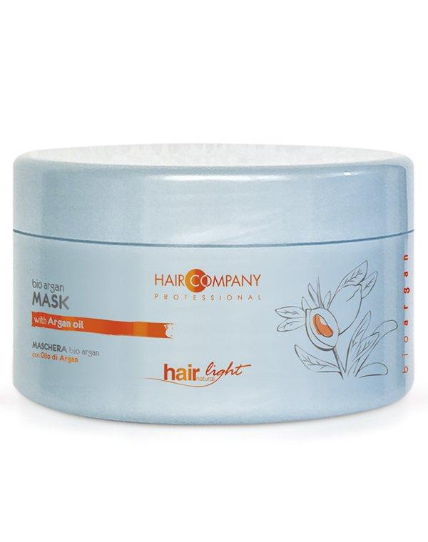Маска для волос Hair Company ProfessionalМаски для окрашеных волос<br>Подходит для полноценного ухода за поврежденными и окрашенными волосами.<br><br>Бренды: Hair Company Professional<br>Вид товара: Маска для волос<br>Область ухода: Волосы<br>Назначение: Увлажнение и питание, Защита цвета<br>Тип кожи, волос: Окрашенные, Осветленные, мелированные<br>Косметическая линия: Линия Hair Light Bio Argan для волос с био маслом Арганы