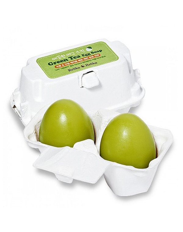 Маска Holika Holika Мыло-маска с зеленым чаем Green Tea Egg Soap, Holika Holika holika holika egg soap special set 4 type 50g x 4 pcs moisturizing whitening soap deep cleansing dead skin korea cosmetic