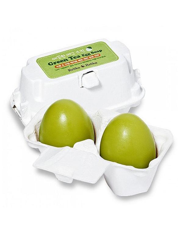 Маска Holika Holika Мыло-маска Green Tea Egg Soap с зеленым чаем, Holika Holika premium биотоник с зеленым чаем салонная косметика премиум premium green tea moisturizing