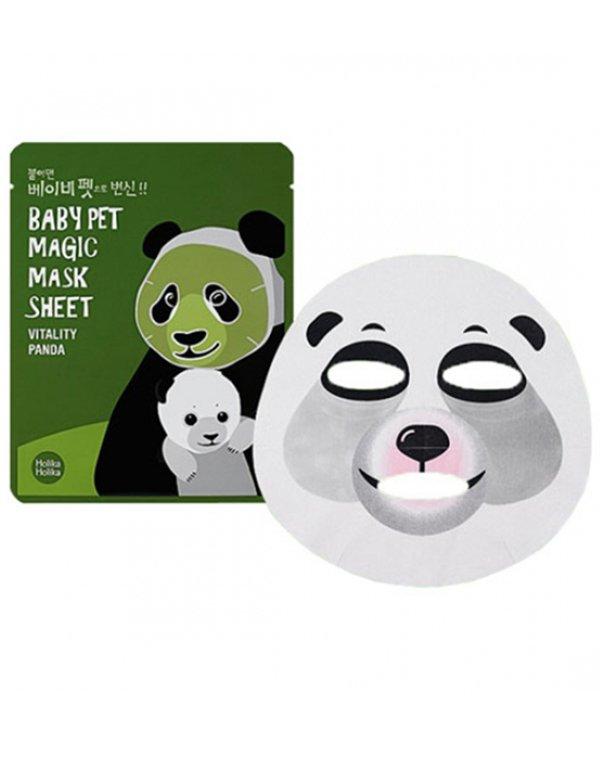 Тканевая маска-мордочка против темных кругов под глазами (Панда), Holika Holika - Кремы для кожи вокруг глаз