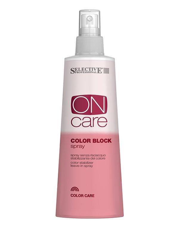 Несмываемый спрей для стабилизации цвета Color Block, SelectiveБальзамы для окрашеных волос<br>Инновационные комплексы Flux, разработанные компанией Selective позволяют спрею эффективно заботиться о сохранении цвета окрашенных волос и одновременно восстанавливать их структуру. Ценные вещества в составе нормализуют pH-баланс и сохраняют насыщенность...<br><br>Бренды: Selective<br>Вид товара: Спрей, мусс<br>Область ухода: Волосы<br>Назначение: Восстановление волос, Защита цвета<br>Тип кожи, волос: Окрашенные, Осветленные, мелированные<br>Косметическая линия: ON CARE Tech Линия для окрашенных волос