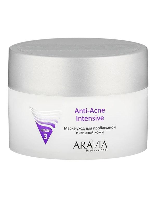 Маска-уход для проблемной и жирной кожи Anti-Acne Intensive, ARAVIA Professional, 150 мл