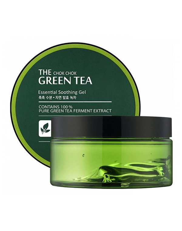 Гель, флюид Tony Moly Увлажняющий гель с экстрактoм зелёного чая The Chok Chok Green Tea Essential Soothing Gel, Tony Moly тоник tony moly the chok chok green tea watery skin toner 180 мл