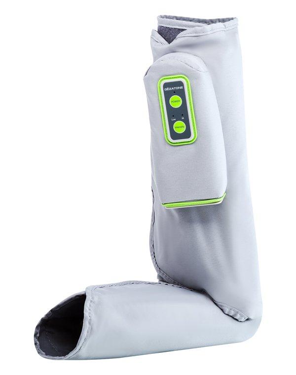 Массажер, аппарат GEZATONEОртопедические изделия  <br>Компактный пневмомассажер для ног предназначен для противоотечного, расслабляющего массажа стоп и голеней, является прекрасной профилактикой варикозного расширения, снимает усталость и тяжесть в ногах.<br><br>Бренды: GEZATONE<br>Вид товара: Массажер, аппарат<br>Область ухода: Ноги<br>Назначение: Массаж ног и рук<br>Метод воздействия: Прессотерапия