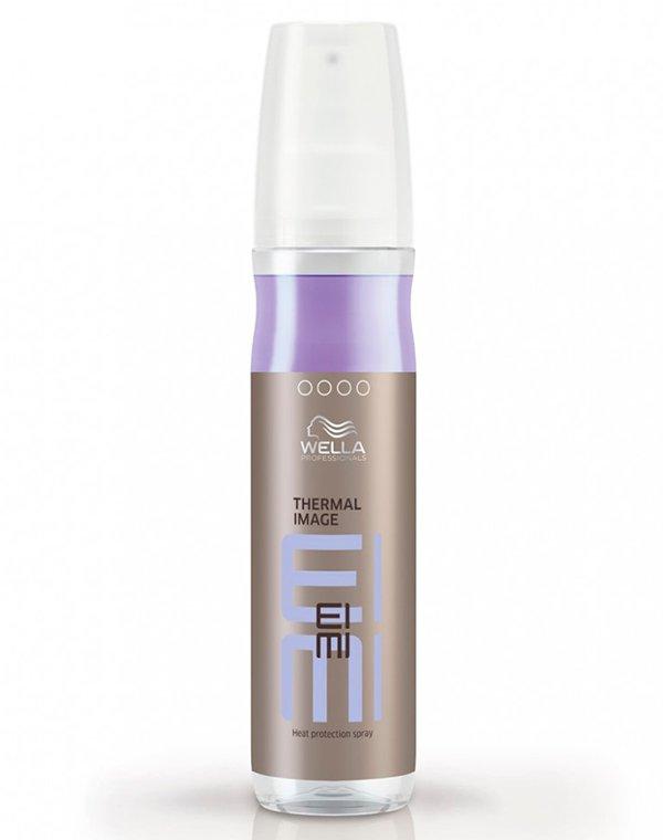 Термозащитный спрей Thermal Image WellaСпрей для волос<br>Спрей придает волосам восхитительный блеск и защищает от высоких температур во время укладки.<br><br>Бренды: Wella Professional<br>Вид товара: Спрей, мусс<br>Область ухода: Волосы<br>Назначение: Стайлинг, Термозащита<br>Тип кожи, волос: Осветленные, мелированные, Окрашенные, Вьющиеся, Сухие, поврежденные, Нормальные, Тонкие<br>Косметическая линия: Линия Wella Eimi стайлинга