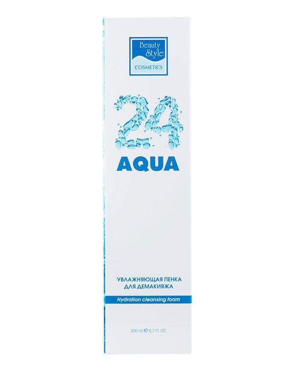Молочко, пенка Beauty Style Увлажняющая пенка для демакияжа Аква 24, Beauty Style