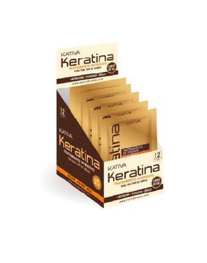Маска для волос Kativa Маска с кератином Kativa для поврежденных и хрупких волос KERATINA, саше 35г