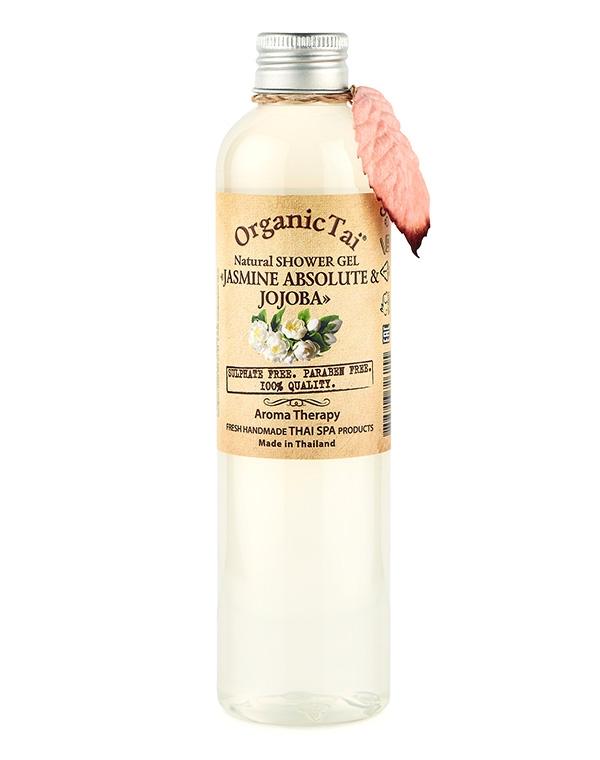 Гель, флюид Organic Tai Гель для душа натуральный «Жасмин и жожоба» Organic Tai, 260 мл гель для душа nagara молочный whip latte 260 мл