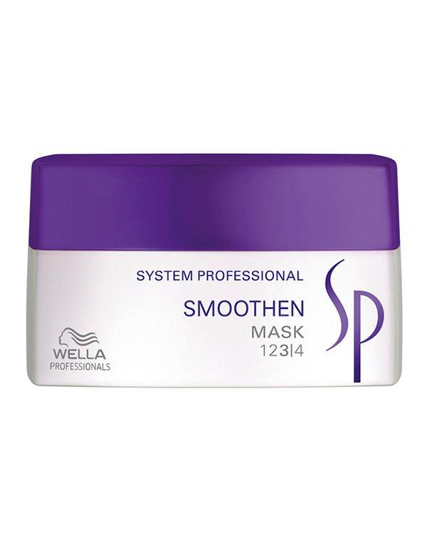Маска для гладкости волос Smoothen Mask Wella SPМаски для сухих волос<br>Маска восстановит, увлажнит вьющиеся пряди, наполнит их питательными веществами.<br><br>Бренды: Wella System Professional<br>Вид товара: Маска для волос<br>Область ухода: Волосы<br>Назначение: Выпрямление<br>Тип кожи, волос: Сухие, поврежденные, Вьющиеся<br>Косметическая линия: Линия SP Smoothen для гладкости волос