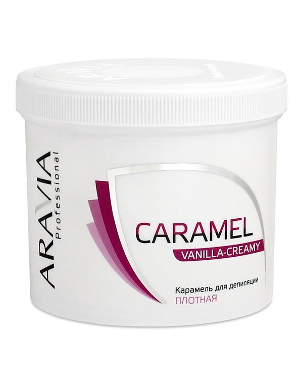 Косметика для депиляции Aravia Карамель для депиляции Ванильно-сливочная плотной консистенции ARAVIA Professional, 750 гр протеин fuze сreatine сливочная карамель 750 г