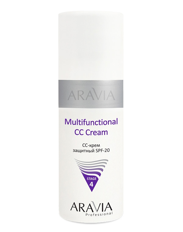 Крем Aravia CC-крем защитный SPF-20 Multifunctional CC Cream ARAVIA Professional, 150 мл aravia cc крем защитный spf 20 multifunctional cc cream 150 мл