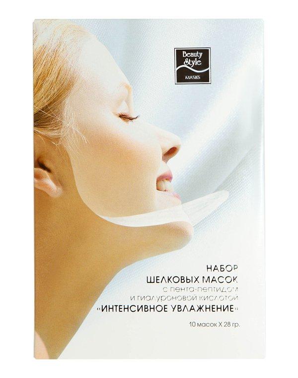 Двухслойная шелковая маска с пента-пептидом и гиалурон. к-той Интенсивное увлажнение Beauty Style
