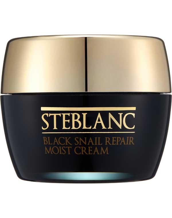 Купить Крем, бальзам Steblanc, Увлажняющий крем для лица с муцином черной улитки Black Snail Repair Moist Cream Steblanc, КОРЕЯ, РЕСПУБЛИКА