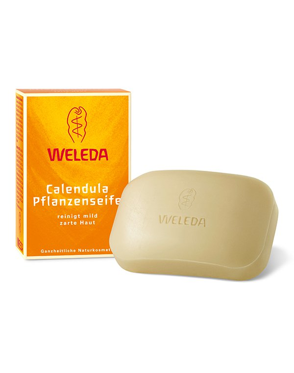 Растительное мыло с календулой, Weleda - Косметика для тела