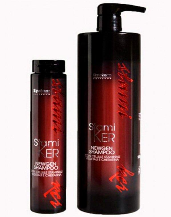 Шампунь регенерирующий, восстанавливающий Shampoo Stamiker Newgen, DiksonШампуни для сухих волос<br>Препарат возродит химически поврежденные пряди, а также усилит красоту и здоровье натуральных локонов.<br><br>Бренды: Dikson<br>Вид товара: Шампунь<br>Область ухода: Волосы<br>Назначение: Восстановление и защита<br>Тип кожи, волос: Осветленные, мелированные, Окрашенные, Вьющиеся, Сухие, поврежденные, Нормальные, Тонкие<br>Косметическая линия: Линия Stamiker Anti-Age лечения волос и кожи головы со стволовыми клетками<br>Объем мл: 250