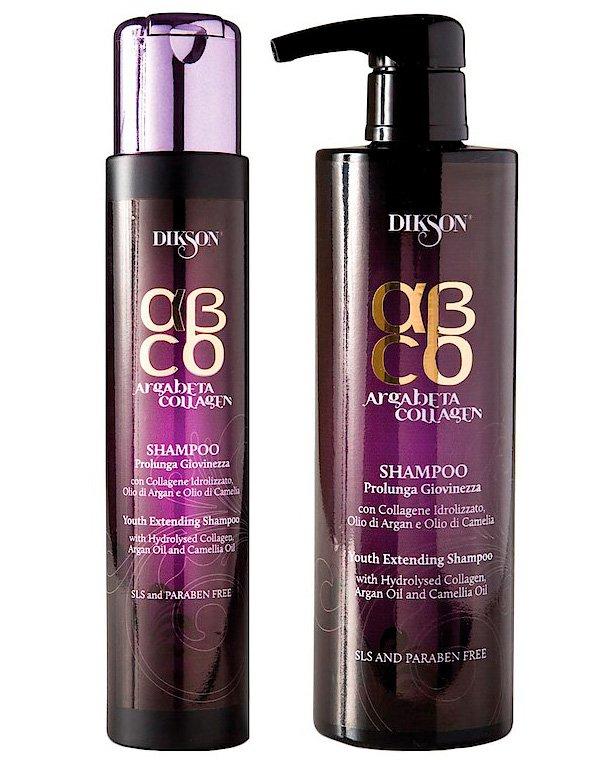 Шампунь Продление молодости Youth Extending Shampoo, DiksonШампуни для сухих волос<br>Шампунь мягко очистит локоны, насытив их питательными веществами. Он улучшит структуру прядей и состояние кожи головы.<br><br>Бренды: Dikson<br>Вид товара: Шампунь<br>Область ухода: Волосы<br>Назначение: Увлажнение и питание, Восстановление и защита<br>Тип кожи, волос: Осветленные, мелированные, Окрашенные, Вьющиеся, Сухие, поврежденные, Жирные, Нормальные, Тонкие<br>Косметическая линия: Линия Argabeta Line Collagene для восстановления волос на клеточном уровне на основе арганового масла, коллагена<br>Объем мл: 250