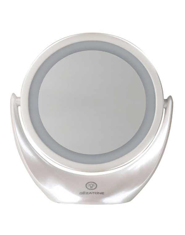 Купить Зеркала GEZATONE, Косметическое зеркало с 5х увеличением и подсветкой LM 110, Gezatone, ФРАНЦИЯ