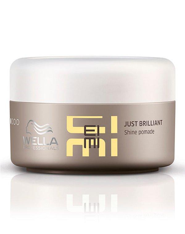 Помада для придания блеска Just Brilliant WellaСредства для укладки волос<br>Помада обеспечивает надежную фиксацию, восхитительный блеск и защиту волос.<br><br>Бренды: Wella Professional<br>Вид товара: Спрей, мусс<br>Область ухода: Волосы<br>Назначение: Стайлинг<br>Тип кожи, волос: Осветленные, мелированные, Окрашенные, Вьющиеся, Сухие, поврежденные, Нормальные, Тонкие<br>Косметическая линия: Линия Wella Eimi стайлинга