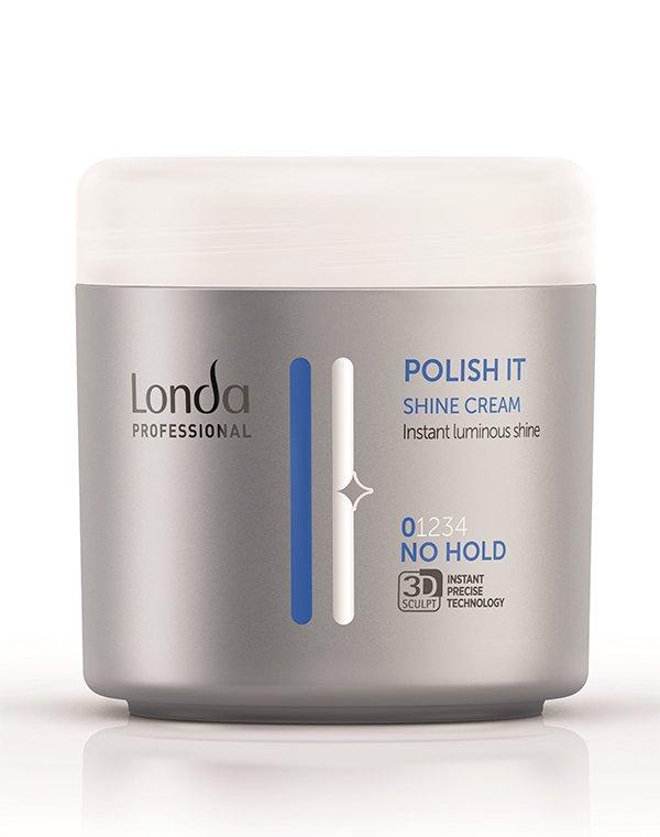 Крем-блеск (без фиксации) Shine polish it LondaКрем для волос<br>Крем-блеск подарит локонам невероятное сияние и шелковистость.<br><br>Бренды: Londa Professional<br>Вид товара: Сыворотка, флюид<br>Область ухода: Волосы<br>Назначение: Стайлинг<br>Тип кожи, волос: Осветленные, мелированные, Окрашенные, Вьющиеся, Сухие, поврежденные, Нормальные, Тонкие<br>Косметическая линия: Линия Styling Londa для укладки волос